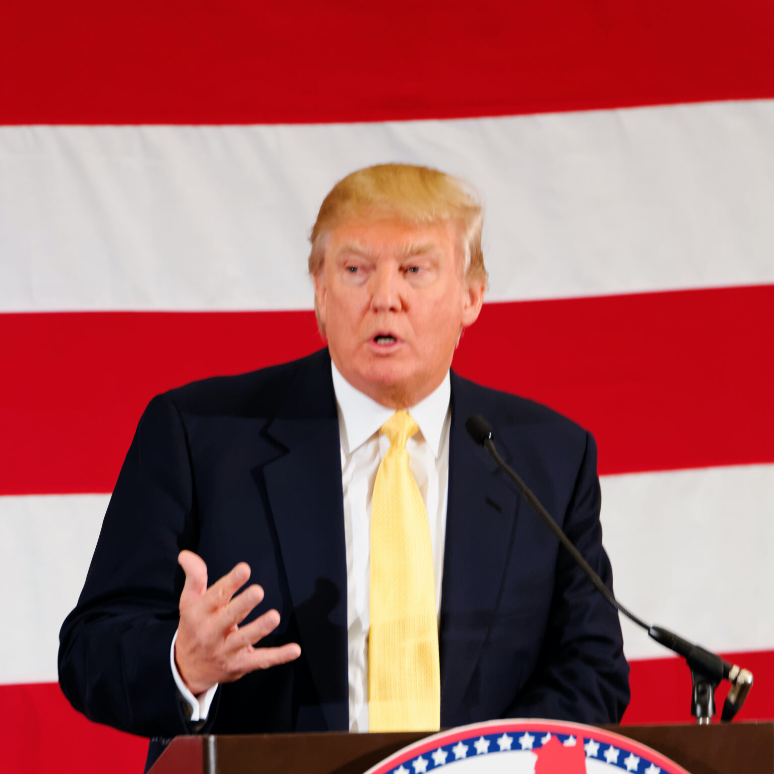 """""""Donald Trump Sr. at #FITN in Nashua, NH"""" by Michael Vadon is licensed under CC BY-SA 2.0"""