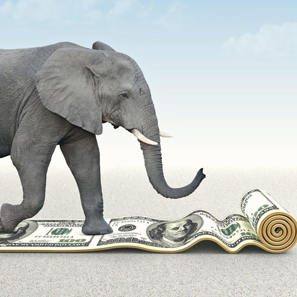 tax cuts elephant