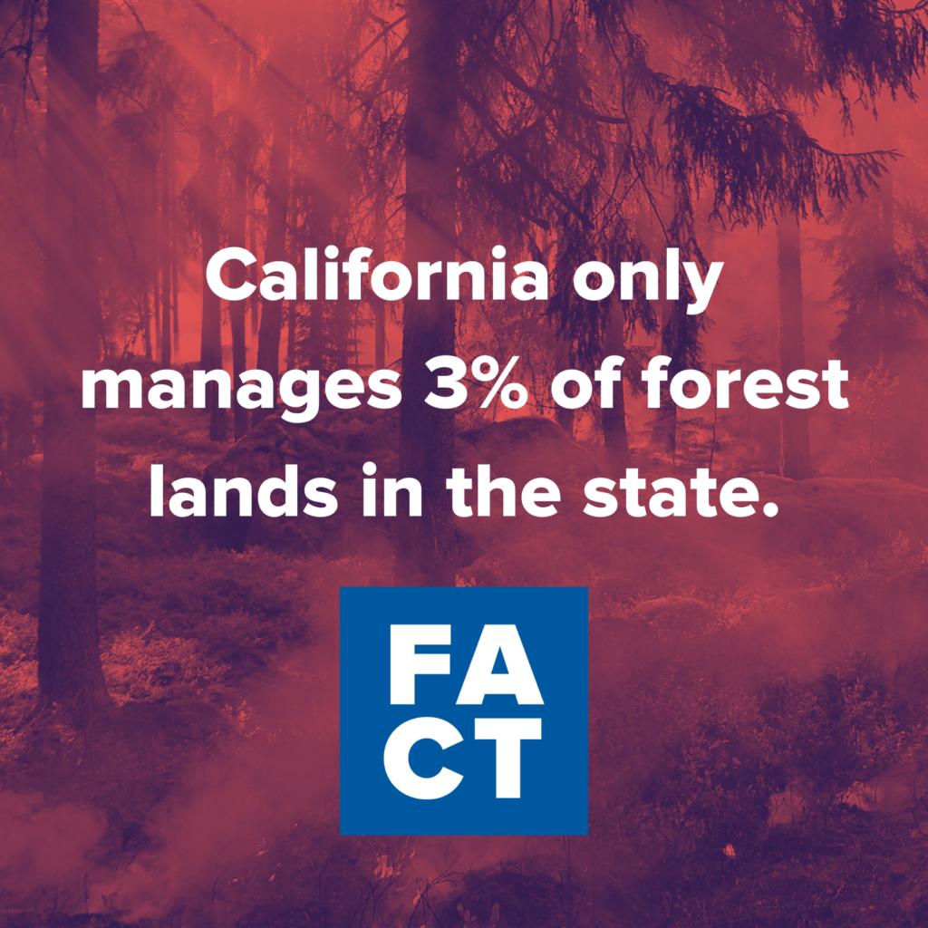 California gestionează doar 3% din pădurile din stat.